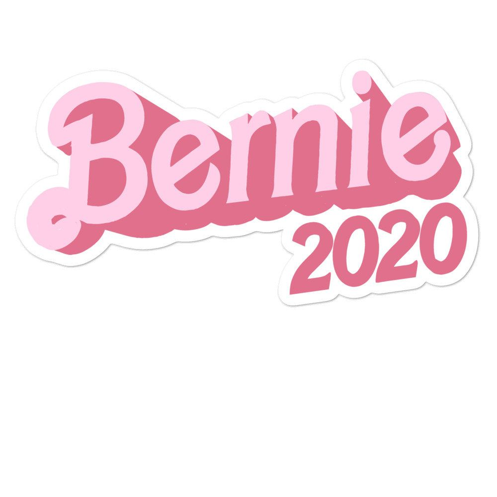 Bernie 2020 Pink Fashion Doll Inspired Bubble Free Vinyl Stickers Art Collage Wall Print Collage Picture Collage Wall