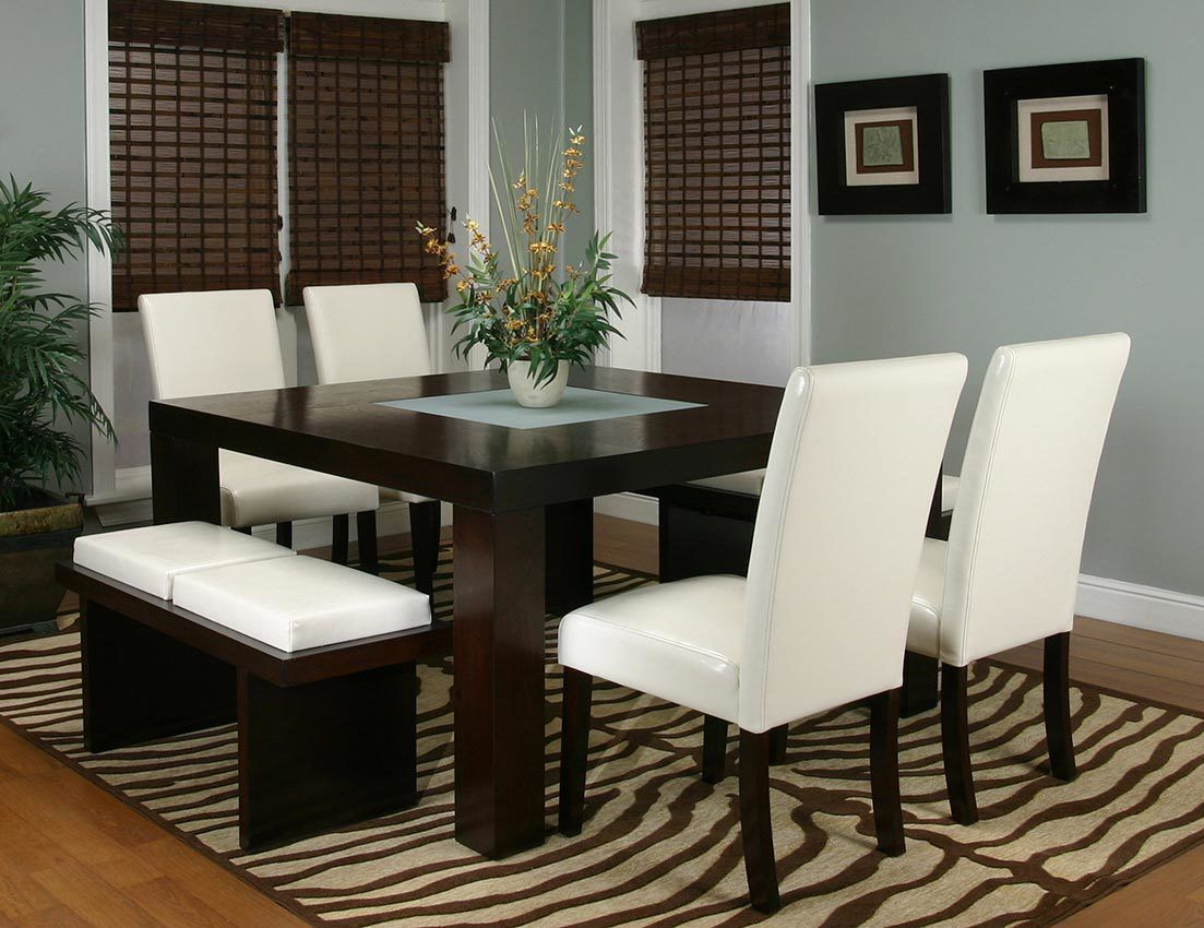 Kemper Ivory Table + 9 Chairs + 9 Benches 95310 79 Cramco Counter ...