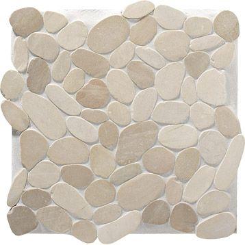 Galets sol mur Rivi ra, ARTENS, beige, 32x32cm Douche gde salle de