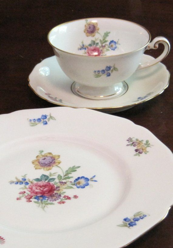 Floral 1950s Fine China Dessert Set My mother had everyday dishes with this same pattern when & Floral 1950s Fine China Dessert Set My mother had everyday dishes ...