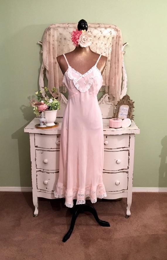 361f0765b 50s Pink Vintage Nightie
