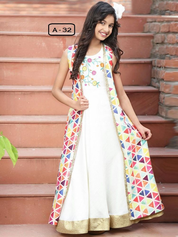 Indian Ethnic Wear Gown For Children Wear Bollywood Designer Gown ...