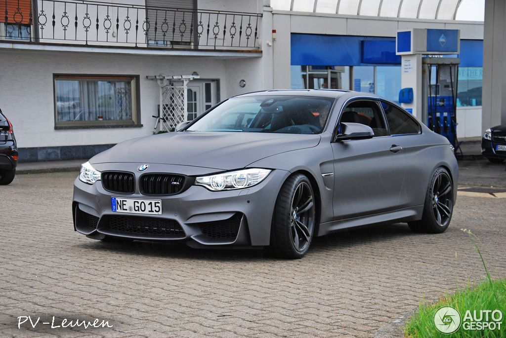 Bmw M4 In Frozen Gray Matte With Smoked Lights Bmw Bmw M4 Bmw Cars