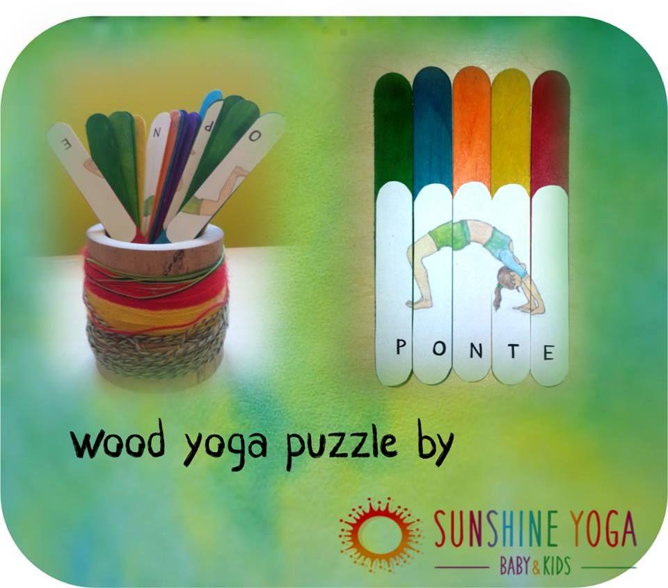 wood yoga puzzle