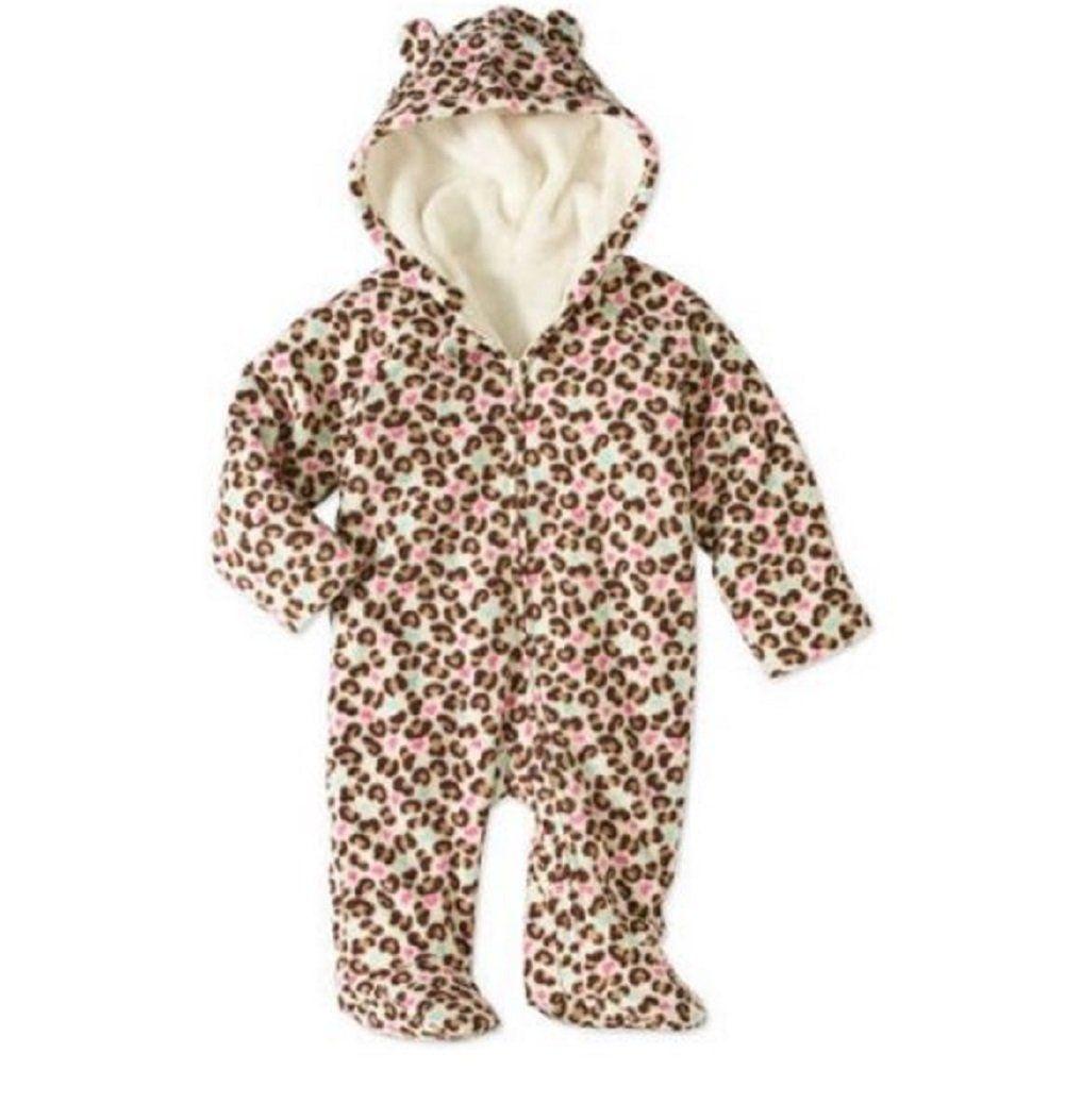 89e94570f Baby Girl Pram Snowsuit Faux Fur Fleece Footed Suit CHOOSE YOUR ...