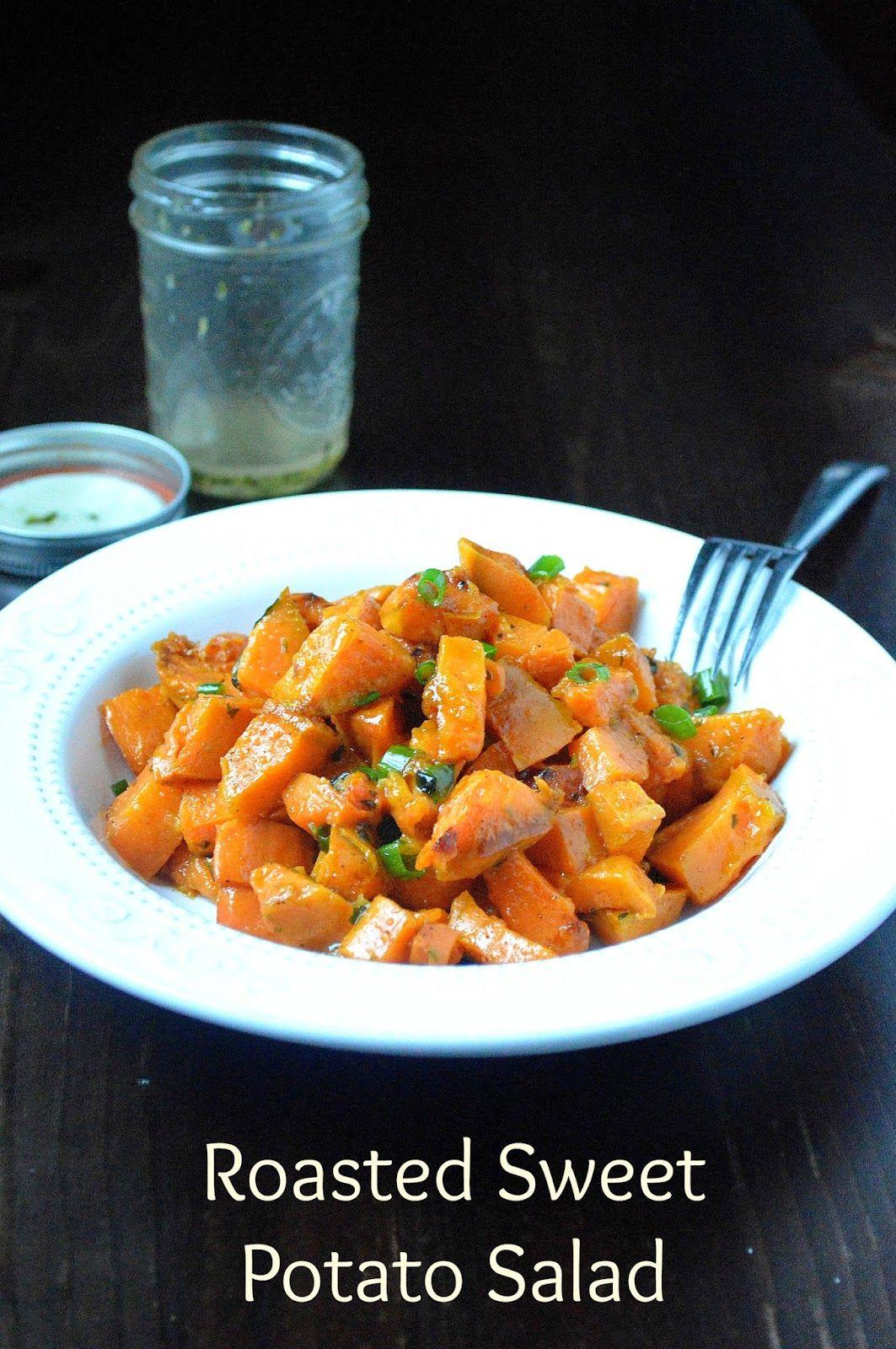 Souffle Bombay: Roasted Sweet Potato Salad #BBQ #salads #sweetpotato #potatosalad