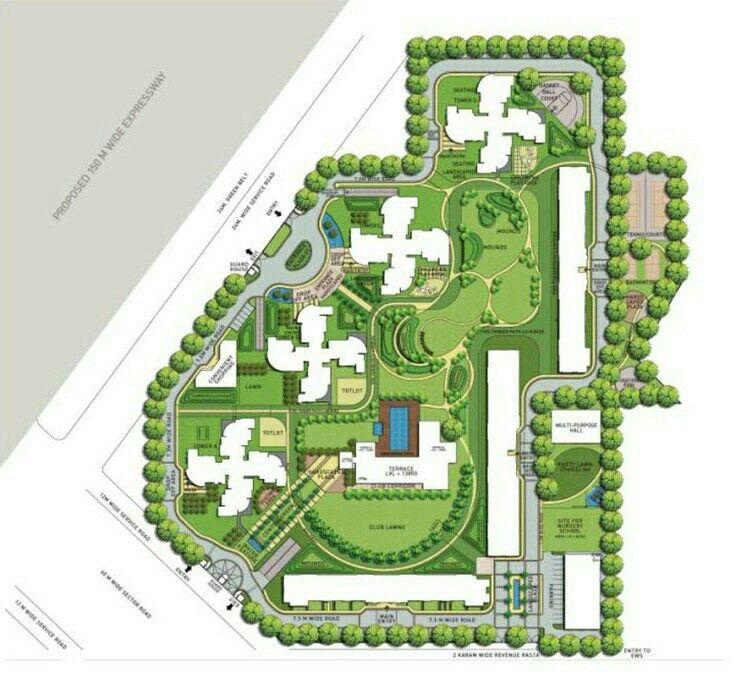 Landscape Plans Design Master Plan Architects Apartment Site University Housing Urban Public Garden