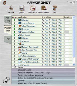 Download Armor2net Personal Firewall