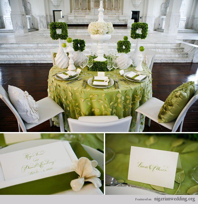 Emerald Green And Gold Reception