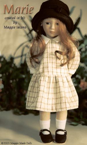 Marie 17 Inch Tall Felt Doll Special Limited Edition : 25 Created in 1995 #Maggie_Iacono_dolls