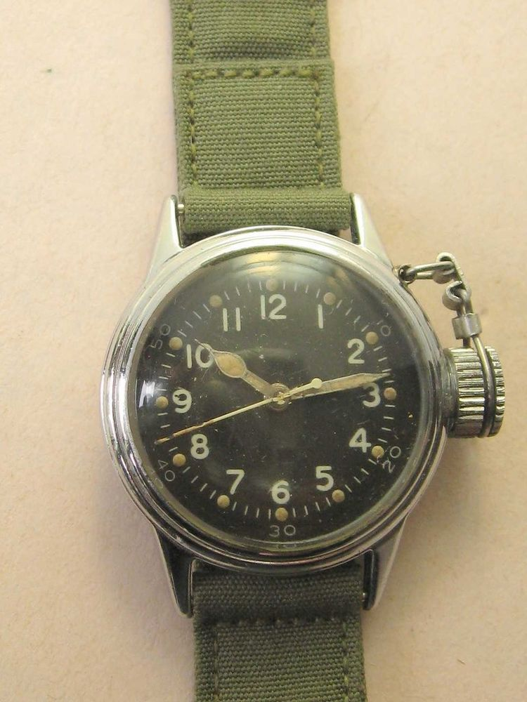 Rare wwii hamilton canteen udt frogman usn buships diver for Hamilton dive watch