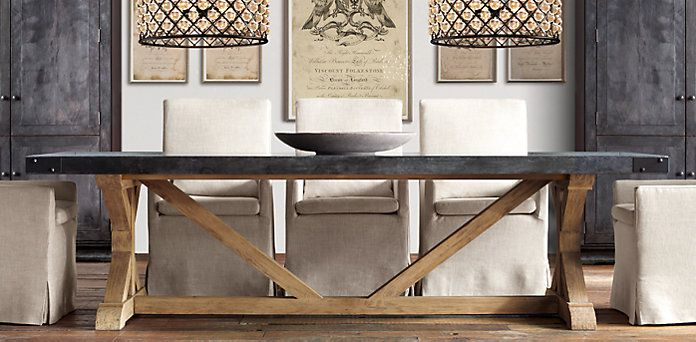 love the rustic look of this dining table rectangular table rh pinterest com