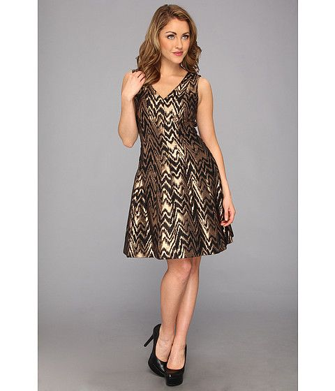 Vince Camuto V-Neck Fit & Flare Metallic Jacquard Dress....just place my first order on 6PM...found some cute stuff...more to come!
