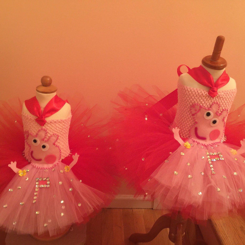 Adorable Peppa pig very fluffy tutu dresses ❤️