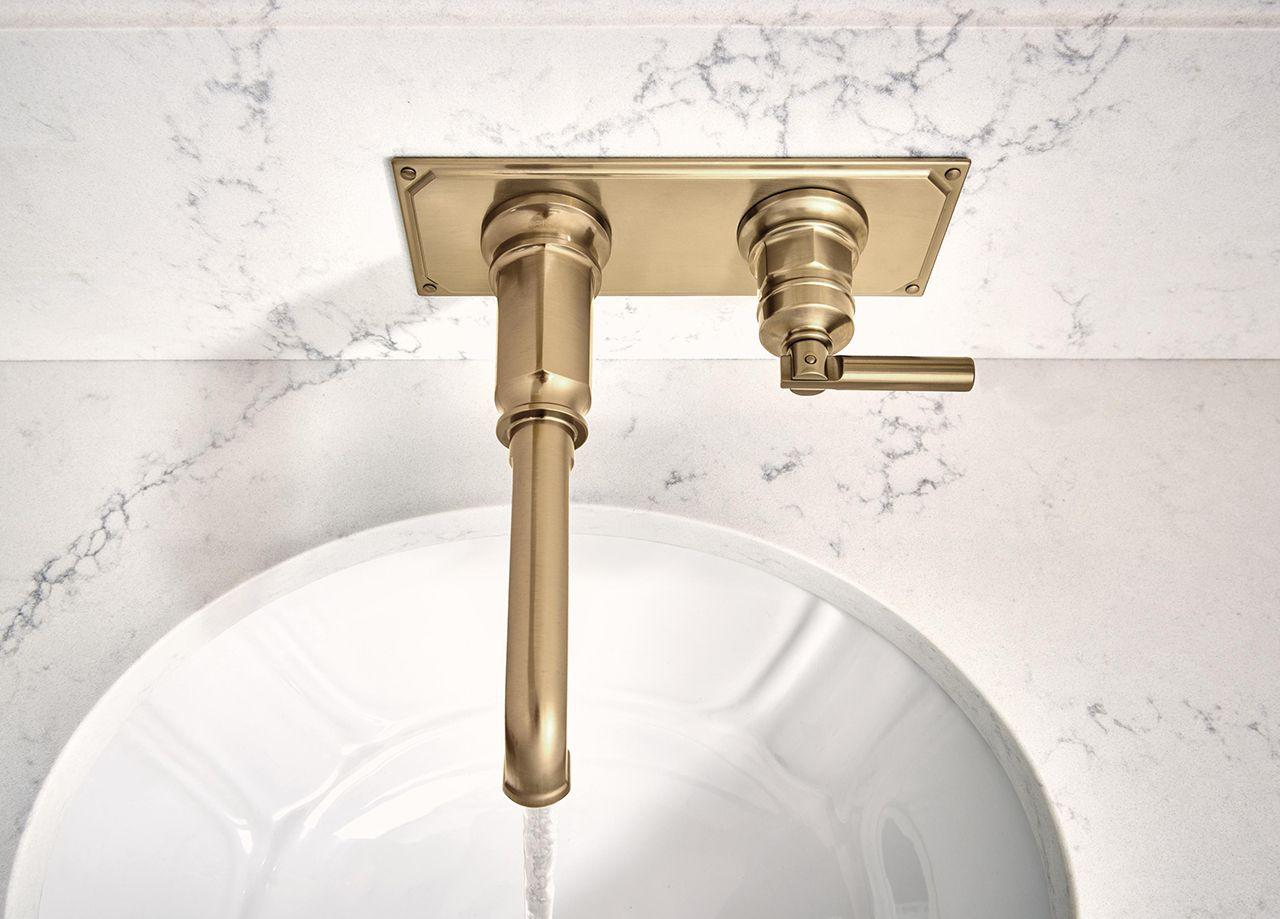 Brizo S Invari Bath Collection Integrates Edwardian Elegance With Machine Age Sensibility Kitchen Bath Showroom Bath Custom Shower