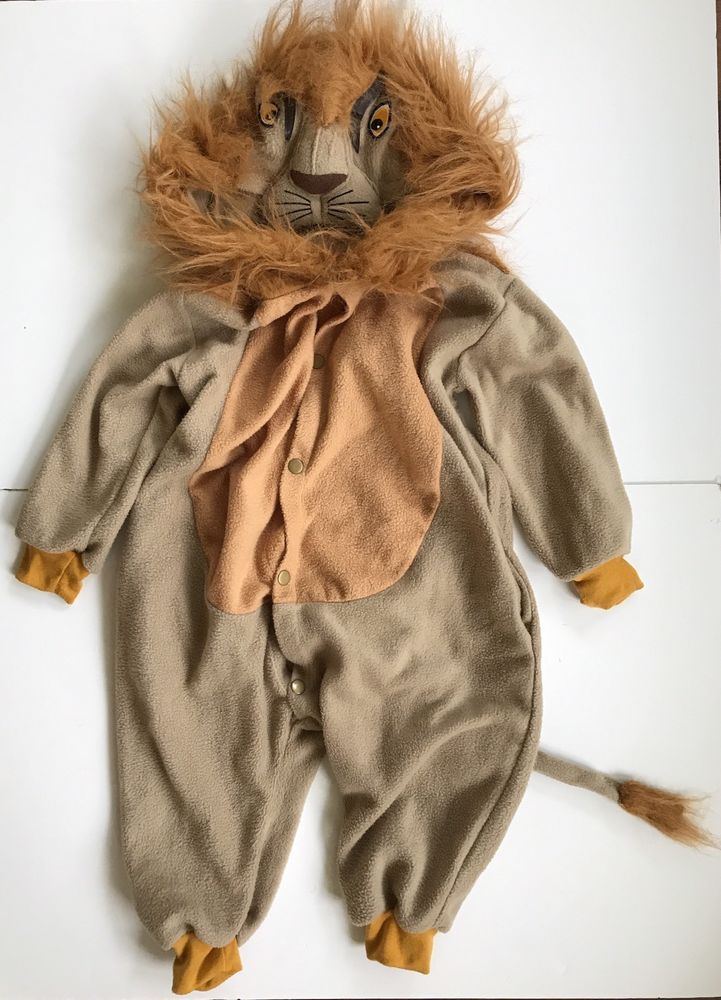 Lion Costume Child Kids One Piece Toddler 3T-4T Halloween Snaps Dress Up Pretend #Unbranded #CompleteOutfit & Lion Costume Child Kids One Piece Toddler 3T-4T Halloween Snaps ...