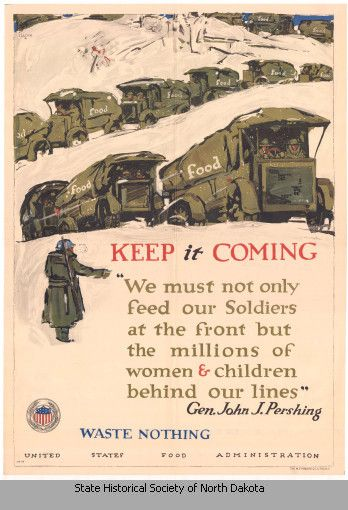 1917 U S Food Administration Advertisement Poster Depicting Army