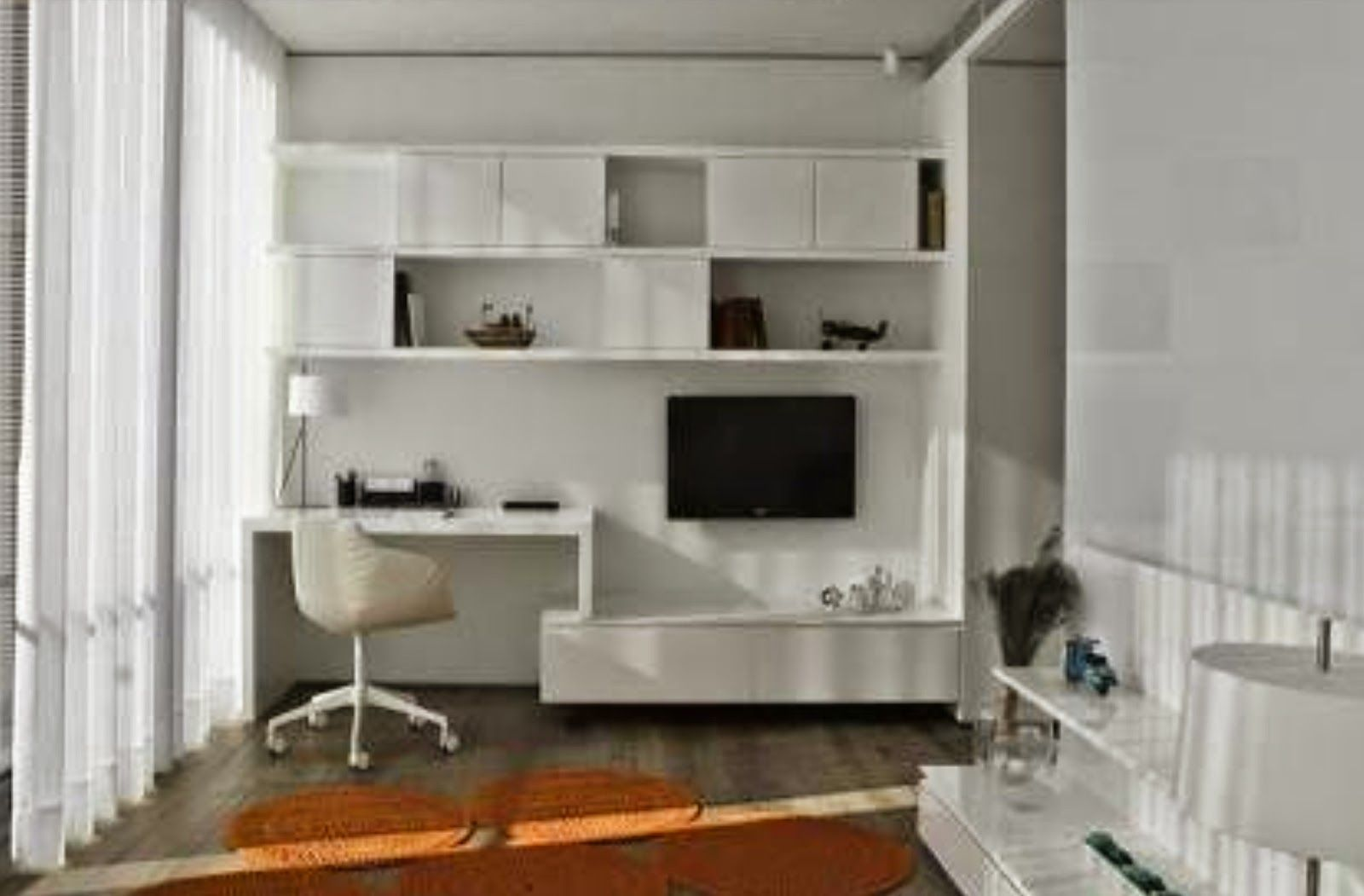 Bedroom Desk Home Office Design Ikea Wall