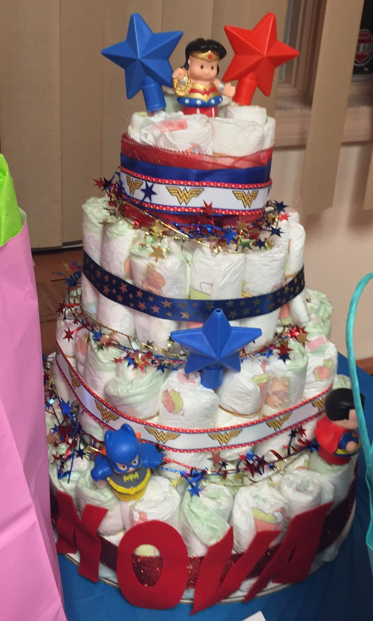 Wonder Woman baby shower diaper cake My creations