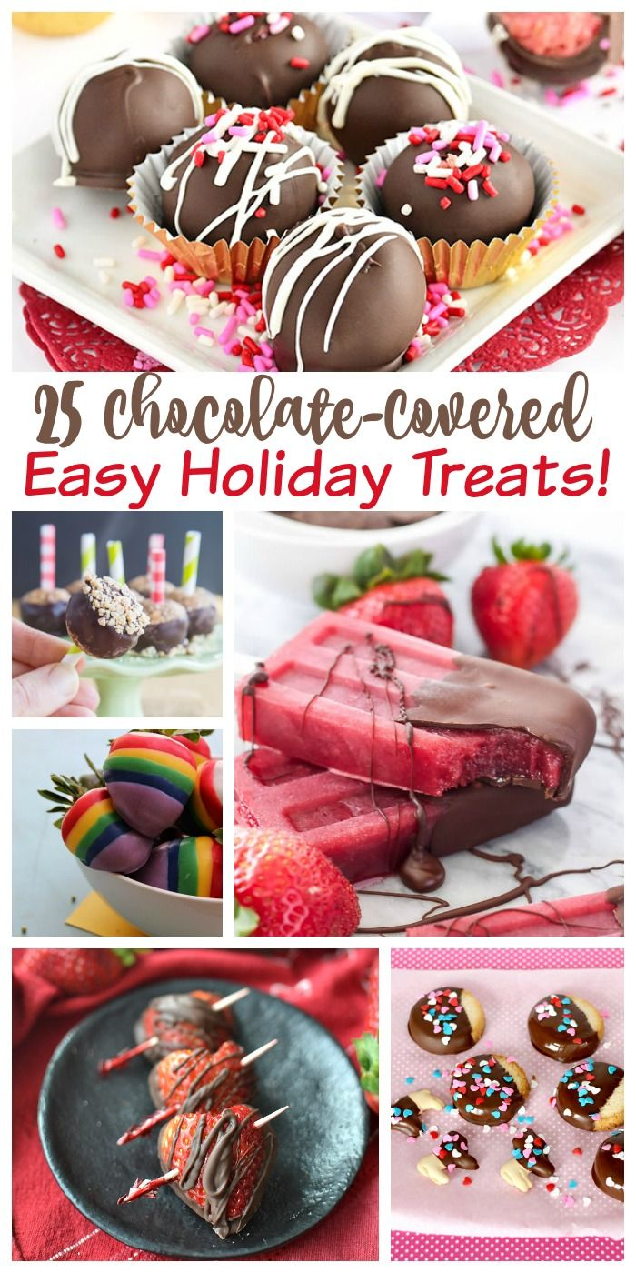 25 Easy Chocolate Covered Treats