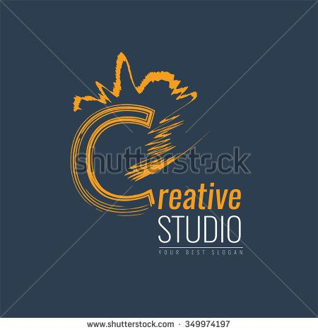 Abstract trend letter C logo design template. Colorful structure creative sign. Creative studio. - stock vector