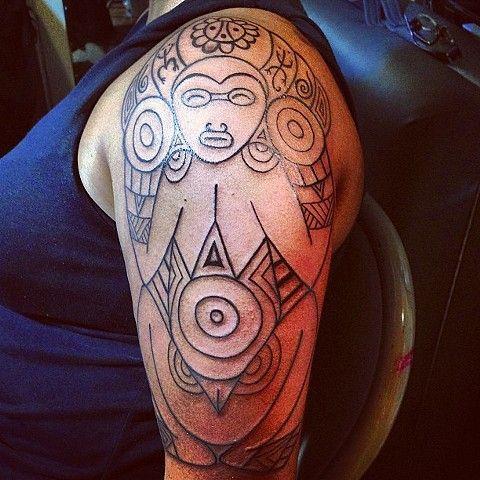 Atabey taino petroglyph tatto taino native tattoos for Henna tattoo in puerto rico