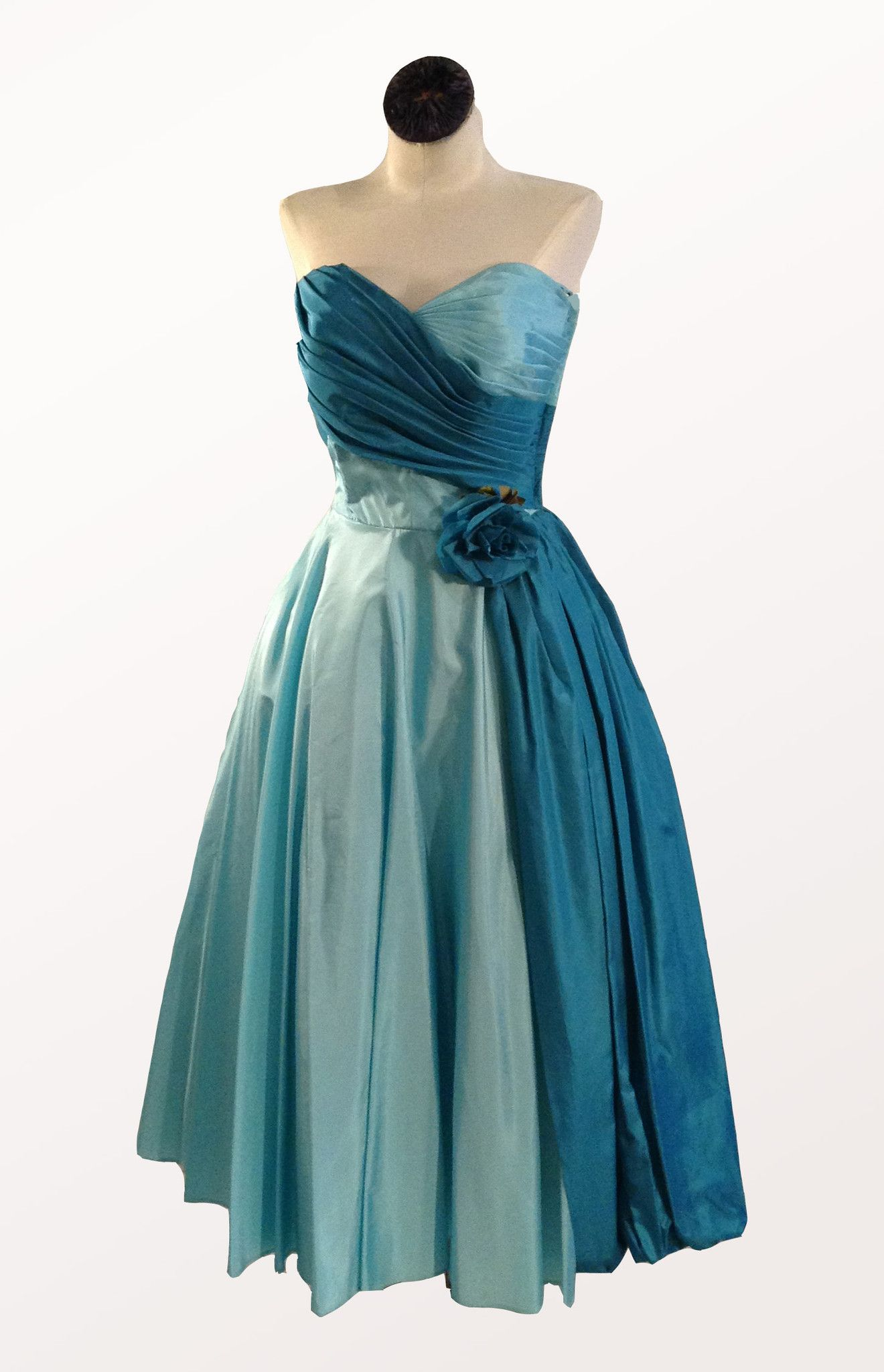 1950 Teal Gown from Silver Moon | Vintage 50\'s | Pinterest | Teal ...