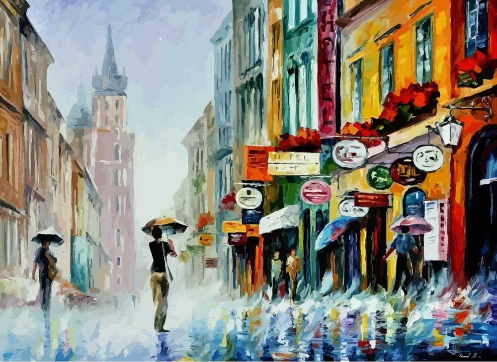 Картина по номерам «Ливень» Леонида Афремова - купить ...