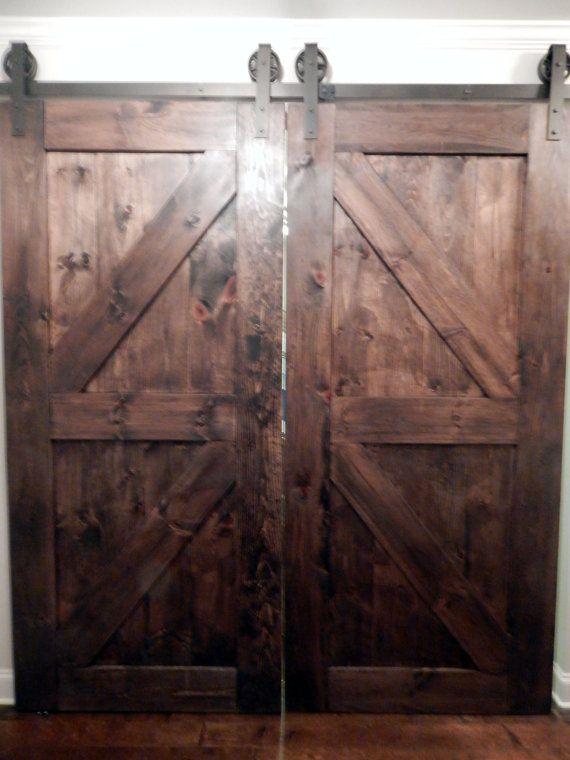 Atlanta Interior Sliding Barn Doors Double Z Style By Youreunique