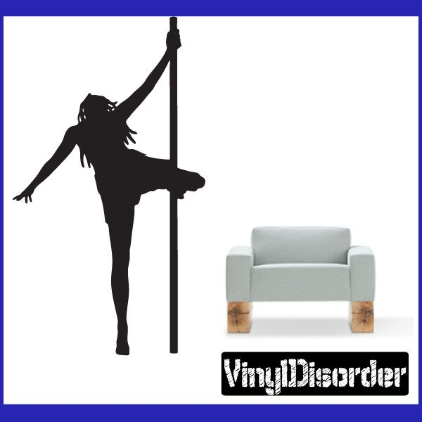 "Stripper Strippers Pole Dancing Erotic Skin People Vinyl Decal Sticker 002 6"" starts at $2.50 for a 6"" decal"