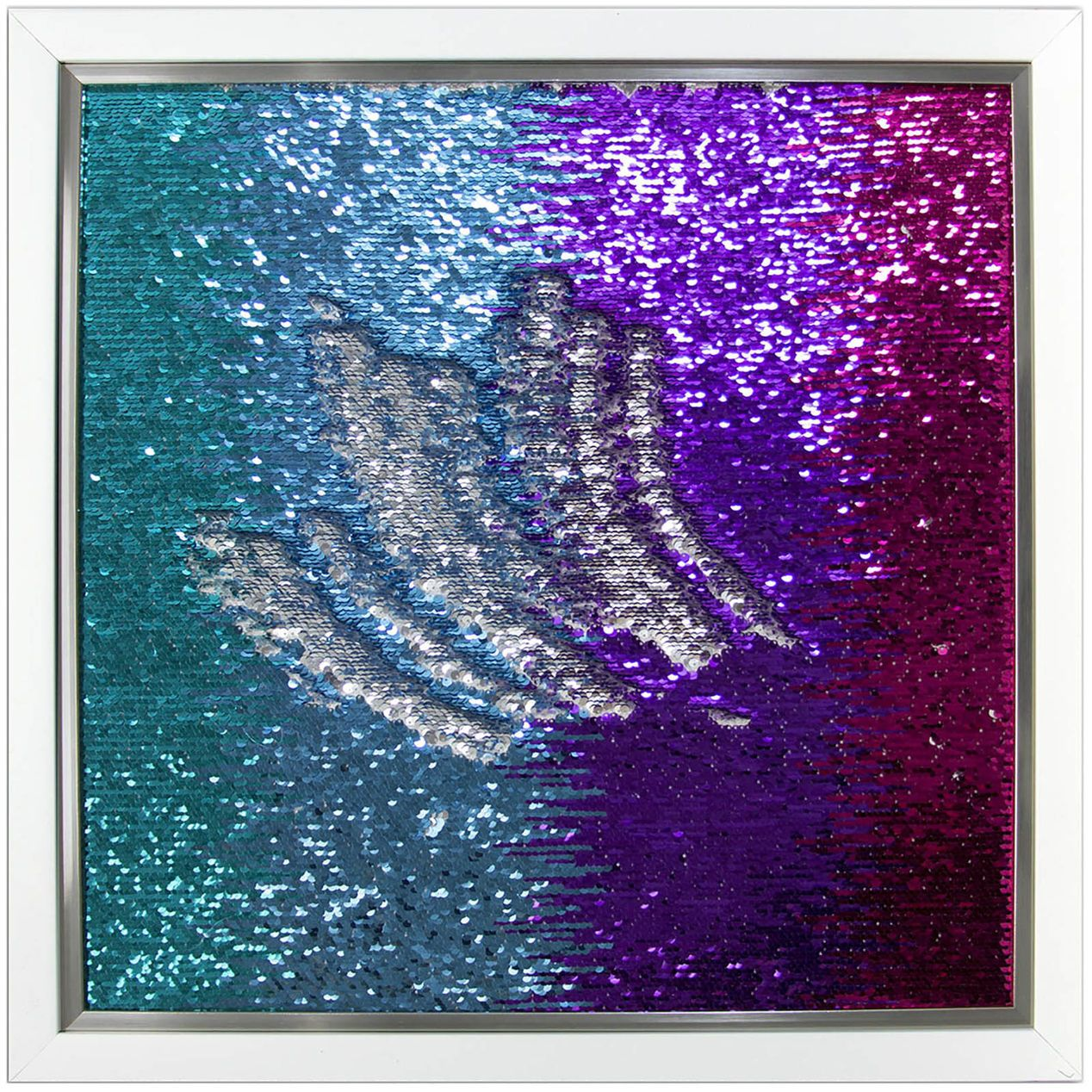 Blue Purple Mermaid Sequin Wall Art 20 X 20 In At Home Sequin Wall Mermaid Home Decor Mermaid Sequin