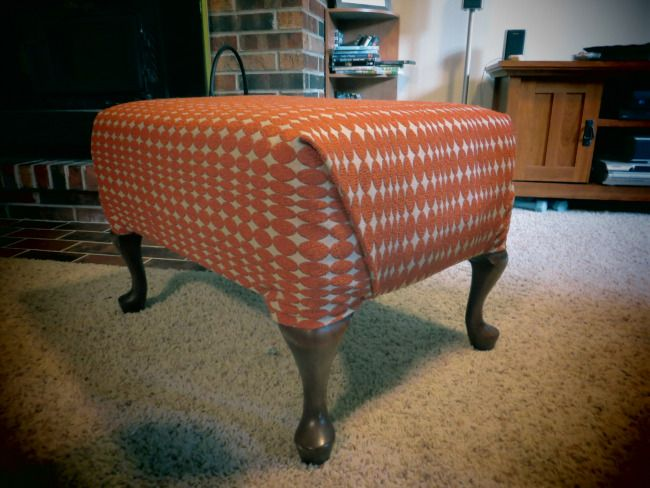 How To Reupholster A Footstool Furniture Projects Furniture Home Decor
