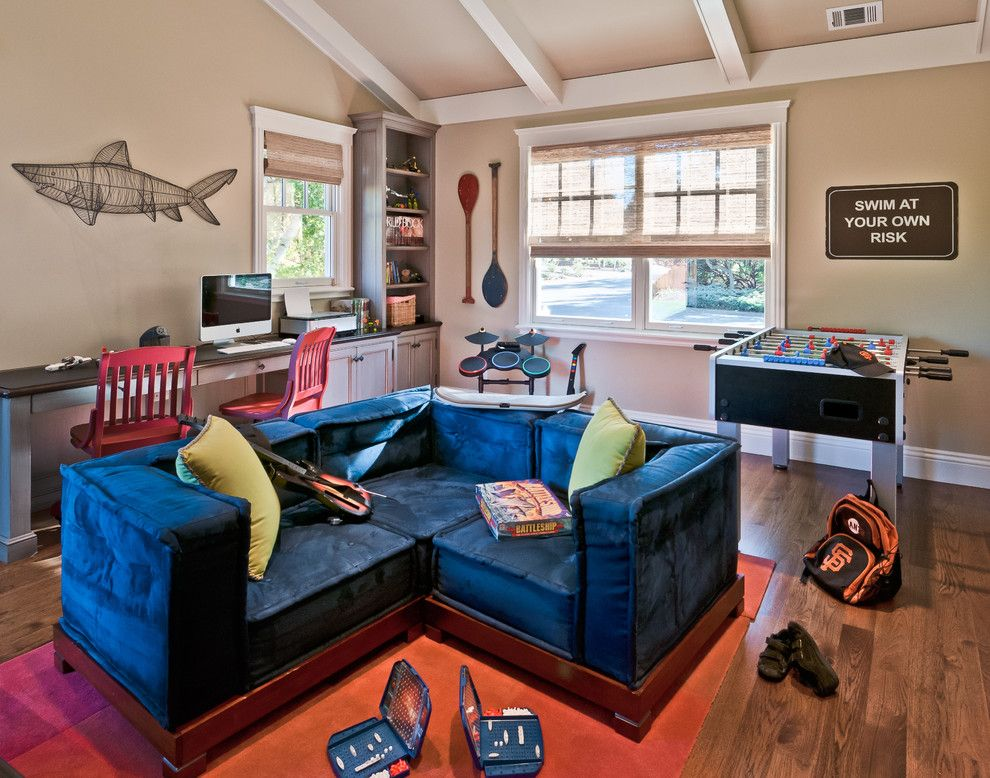 Design Your Own Bedroom Game Photo Of A Contemporary Family Room In San Francisco With A Game