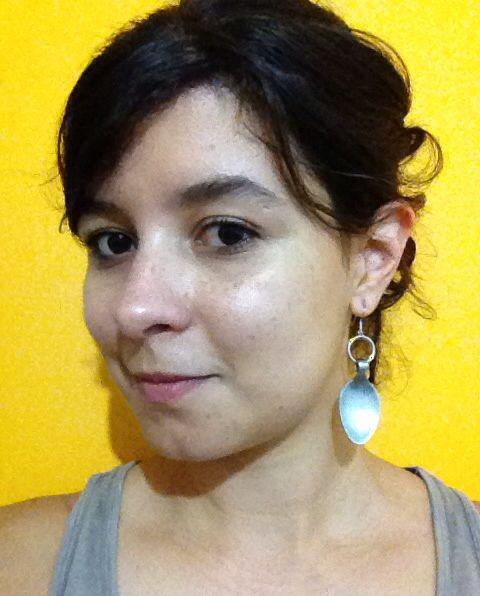 Brinco feito de colher. Spoon earrings. Chef earrings. Creative earrings.