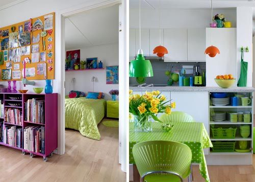 great colourful living space!