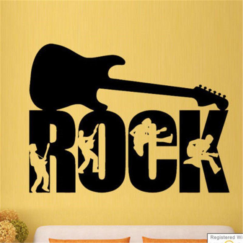 G340 Rock Guitar Music Band Studio Boys Wall Art Stickers Decals ...