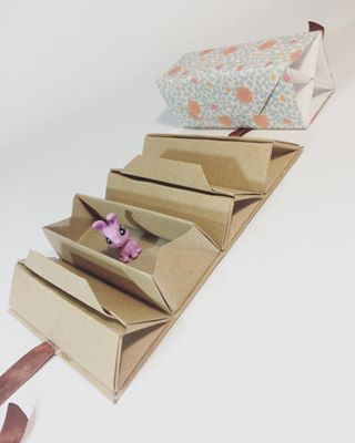 Origami long box lid with handle origami and craft a new box good for keeping jewellery origami box origamibox paperfolding diy paper papercraft paperkawaii jewelrybox sciox Gallery