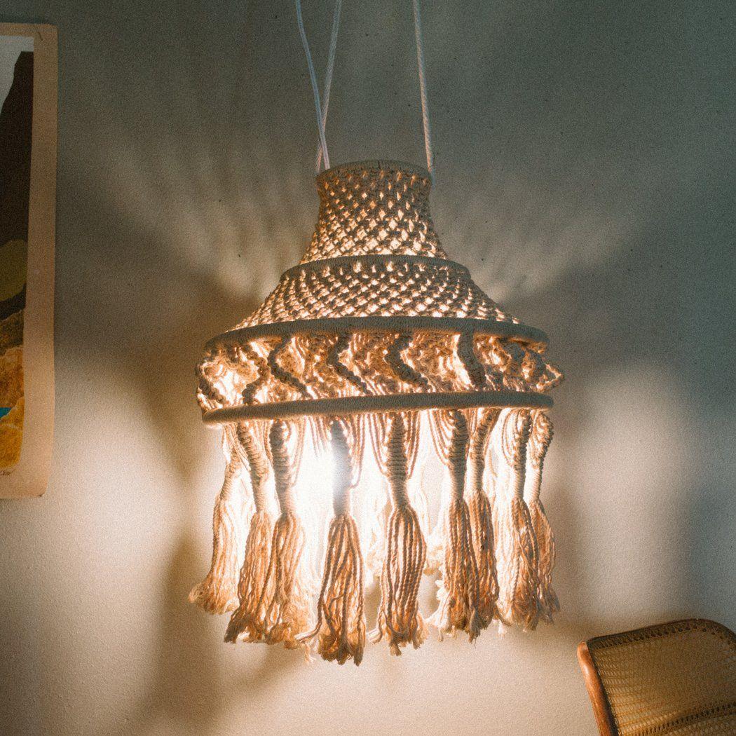 Vintage Hanging Macrame Pendant Lamp Shade Pendant Lamp Pendant