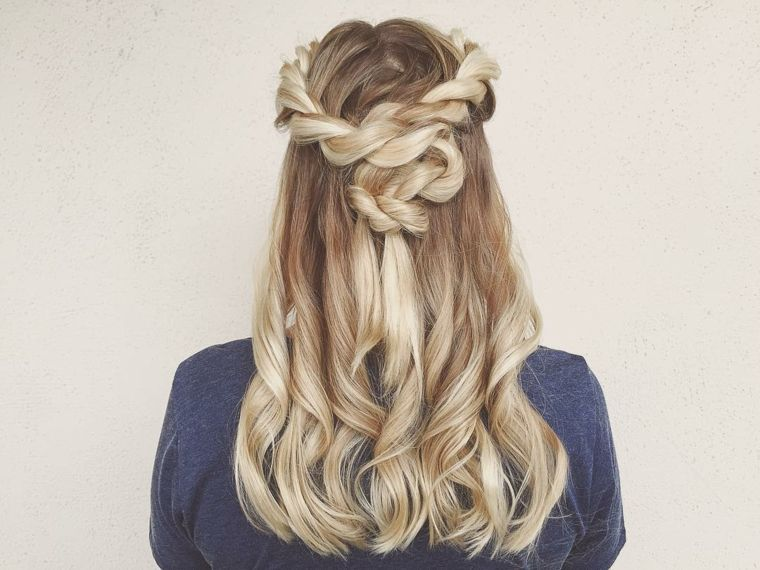 semirecogidos con trenzas opciones estilo ideas cabello