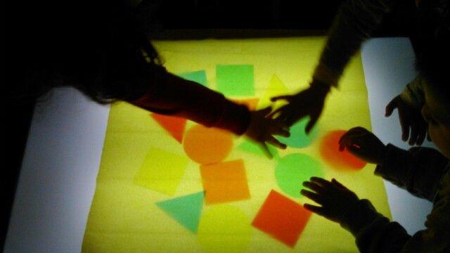 Light table shapes colors