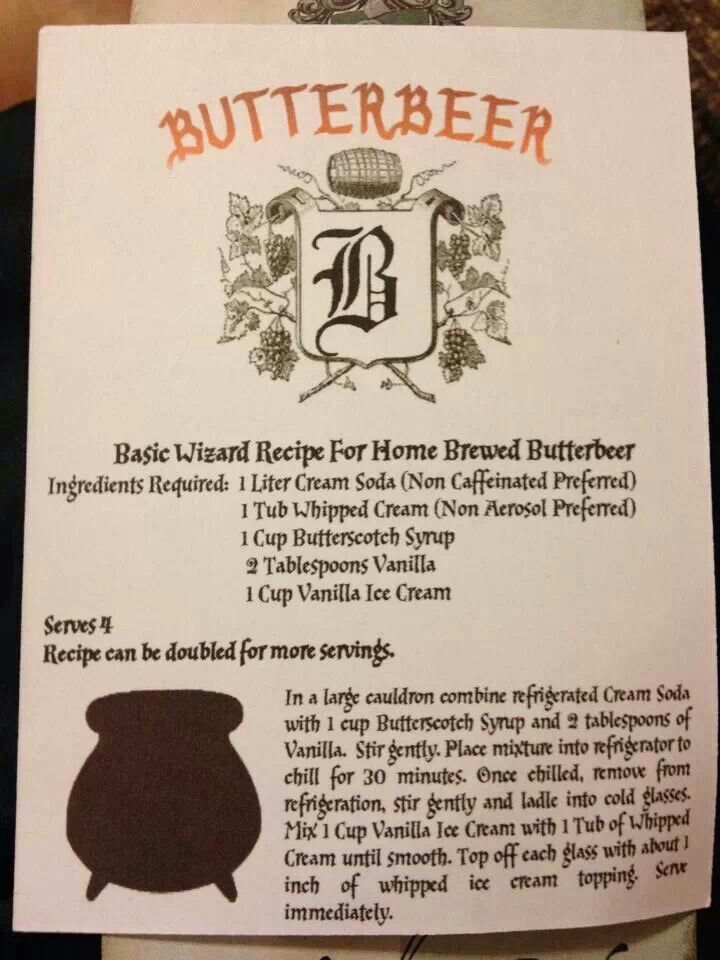 Butterbeer Won T Be As Good As Universal Studios But I Will Try Harry Potter Butter Beer Harry Potter Food Harry Potter Drinks