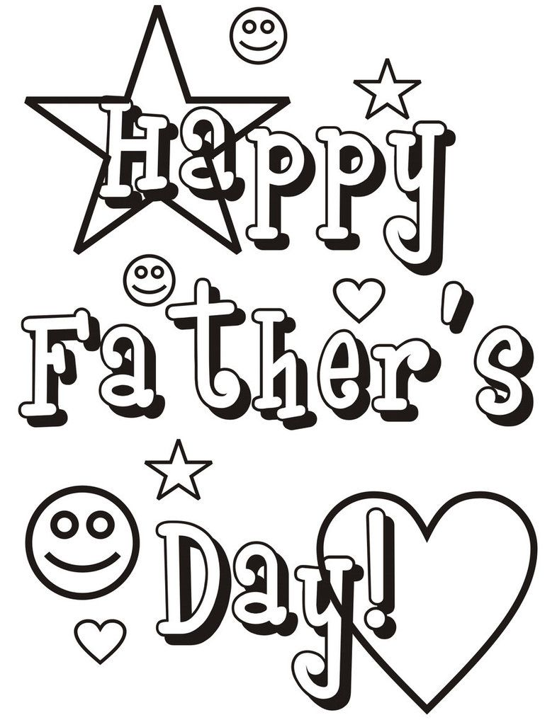 fathers day coloring pages Coloring pages Template Pinterest