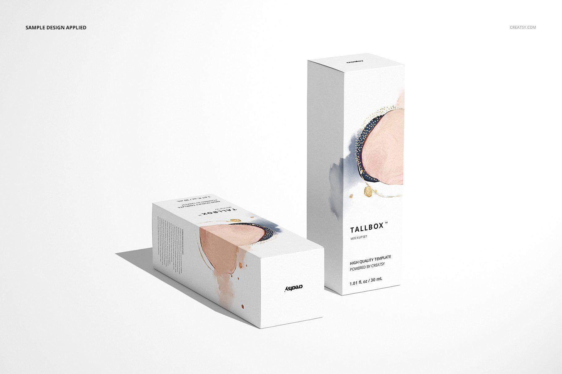 Download Tall Box Mockup Set Box Mockup Creative Market Mockup Design