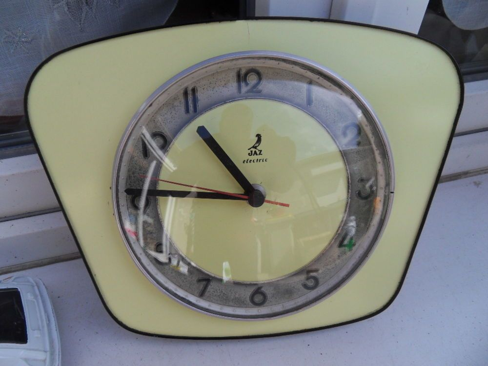 Ancienne Pendule Wall Clock Uhr Horloge Art Deco Design 60