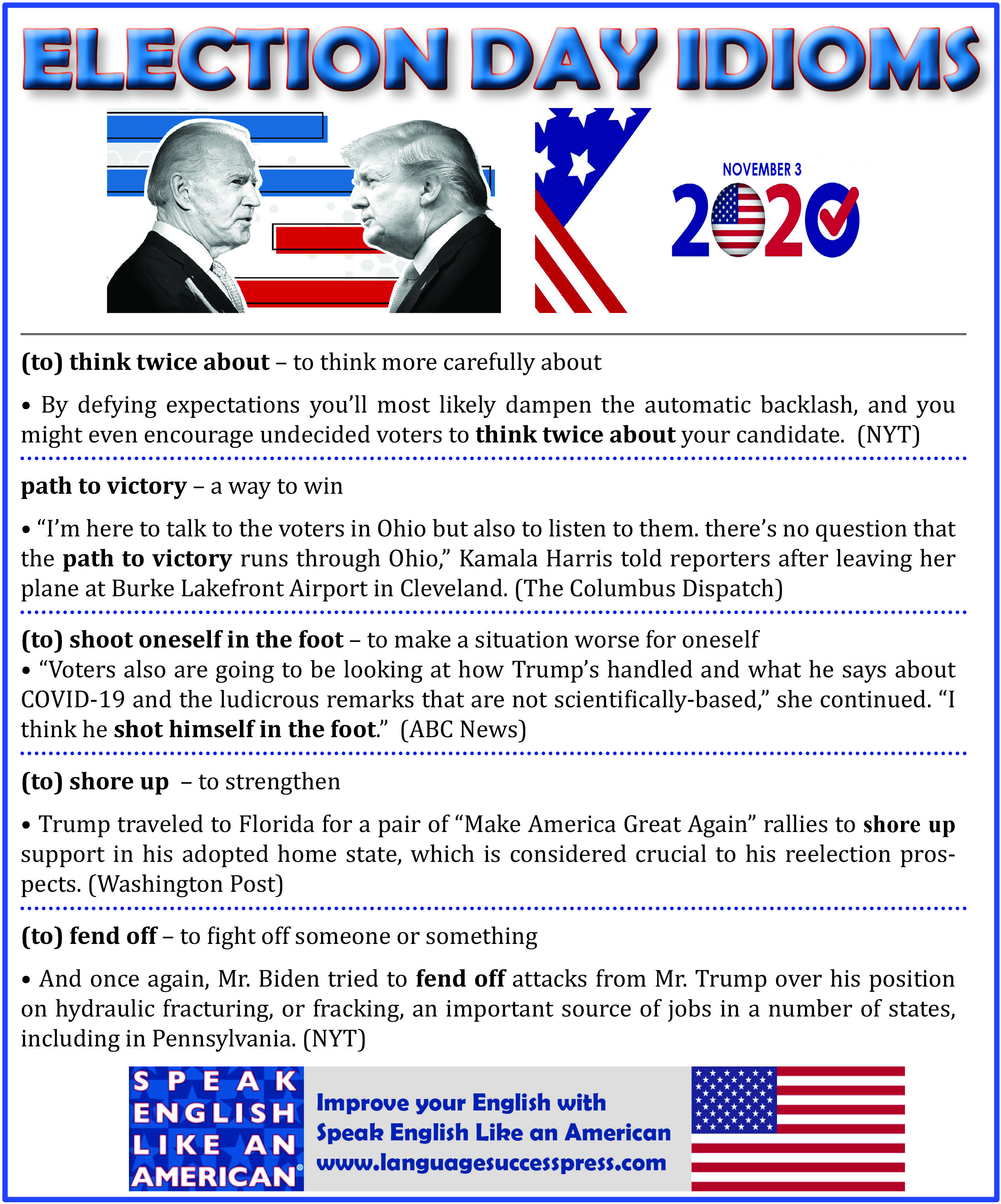 Election Day Idioms Learn English Learning English Online Idioms