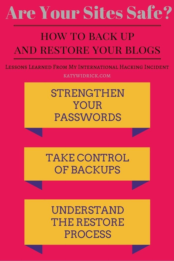 How to back up and restore your blogs if you get hacked