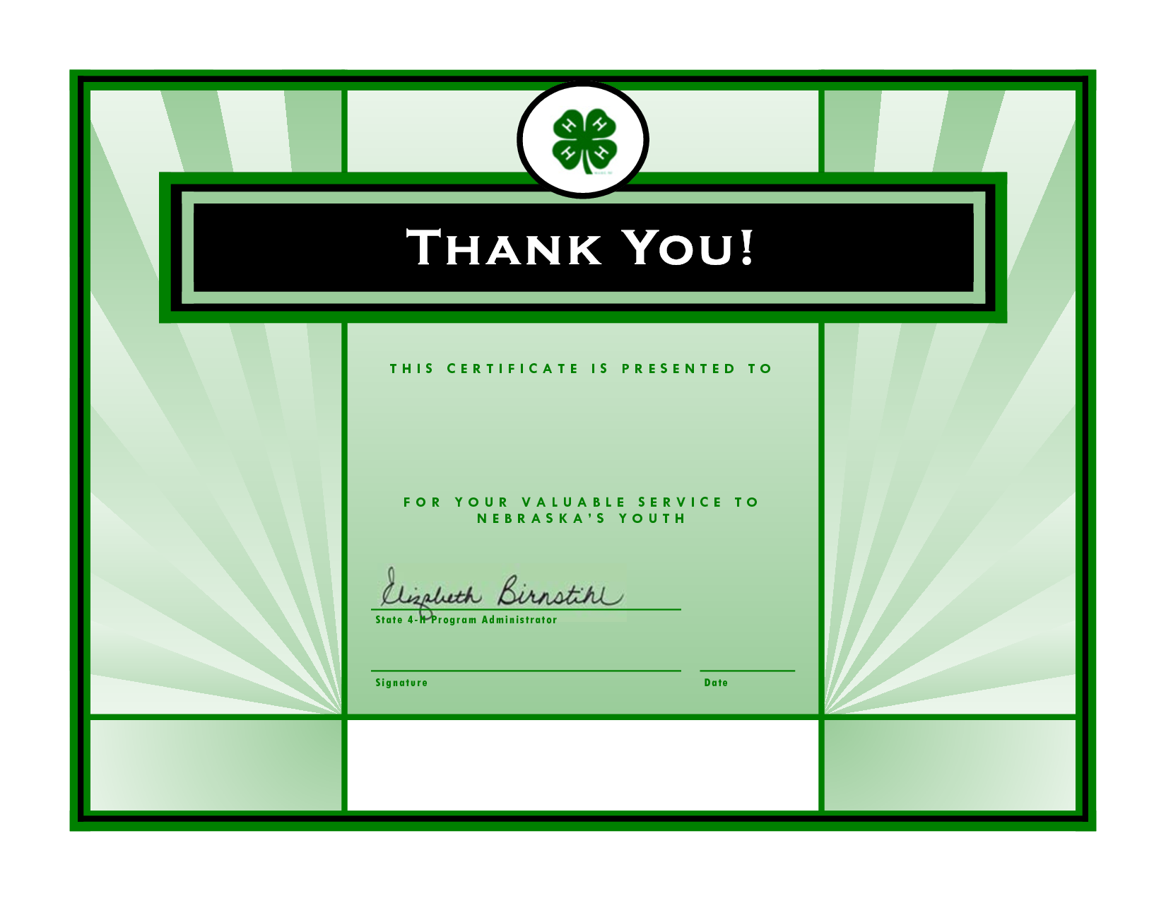 printable thanks you for volunteer certificate – Thank You Certificate Template