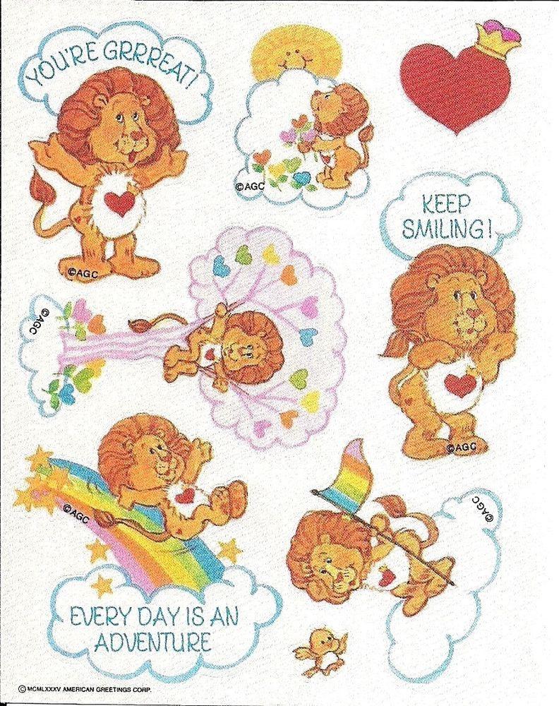 Agc American Greetings Satin Taffeta Care Bear Cousin Lion Heart