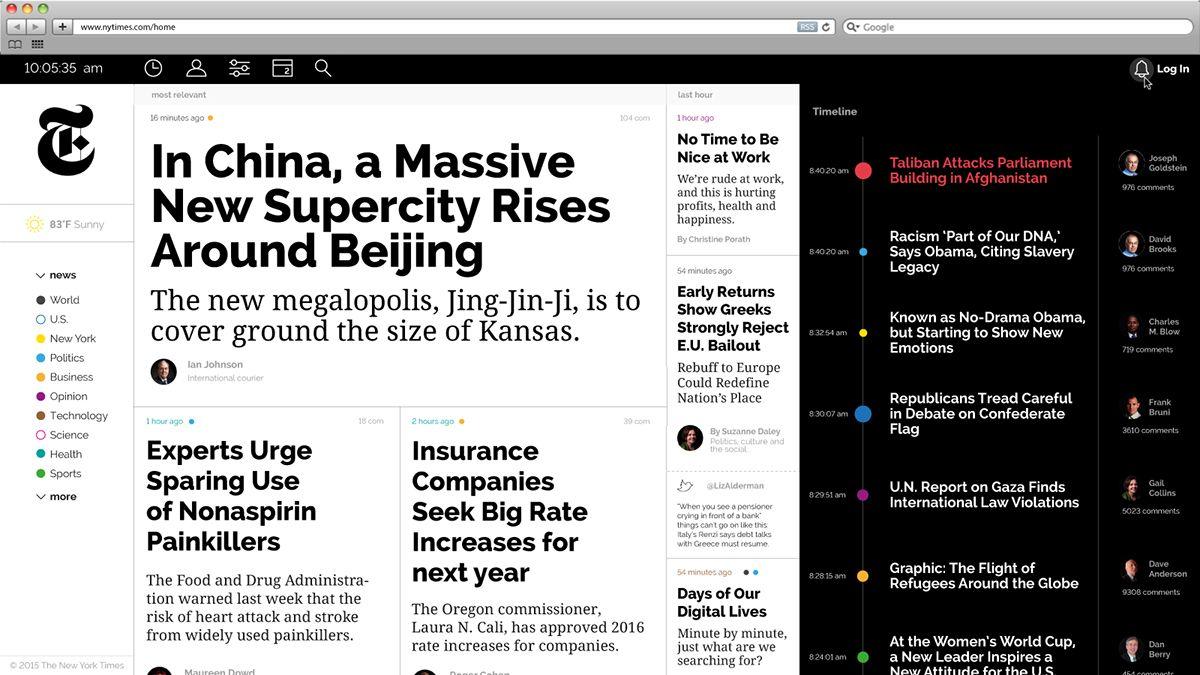 The New York Times Web Design On Behance Web Design Web Design Quotes Online Web Design