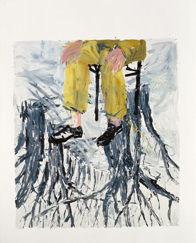 georg baselitz deutscher maler und bildhauer 1938 kunst malerei leinwand gemälde abstrakt bilder modern art